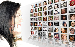 Be United in Christ--Can't We All Just Get Along? (Image: Woman looking at diverse faces)